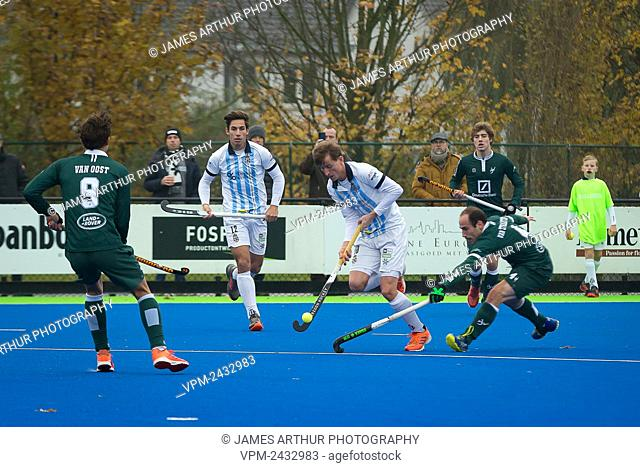 Illustration picture shows a hockey game between Gantoise and Waterloo Ducks, on day seven of the Belgian first division hockey championship