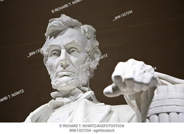 Statute of Abraham Lincoln by Daniel Chester French, in Lincoln Memorial
