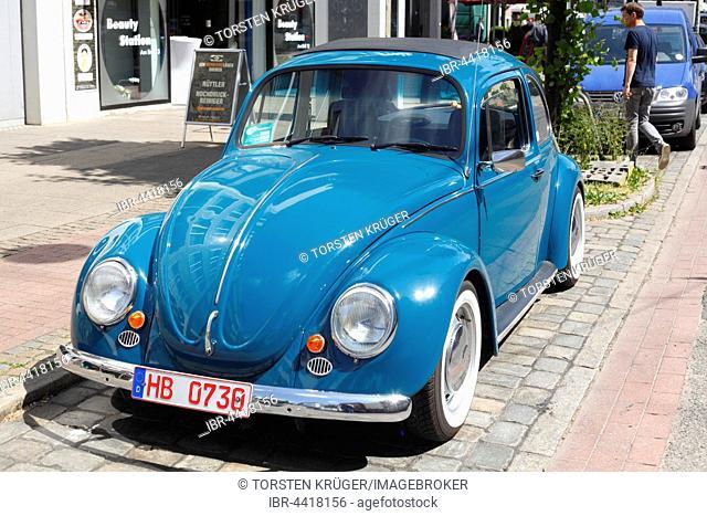 Vintage blue VW Beetle 1300, Germany