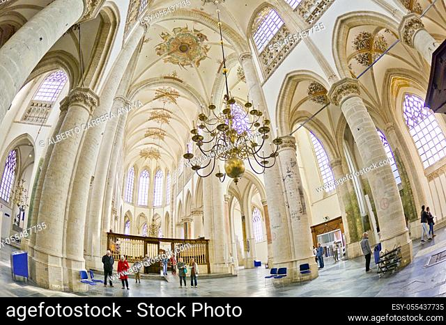 Grote Kerk, Church of Our Lady, Brabantine Gothic Style, Breda, Noord-Brabant Province, Holland, Netherlands, Europe