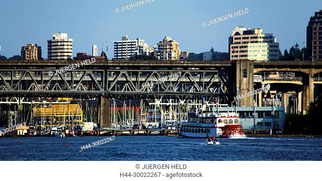 English bay ,Paddle Steamer, Burrard bridge, Granville Island, Vancouver City , Canada, North America