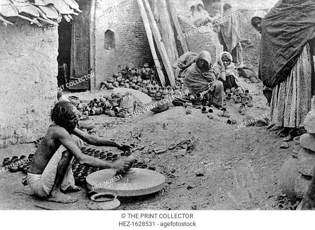 A potter at work, India, 20th century