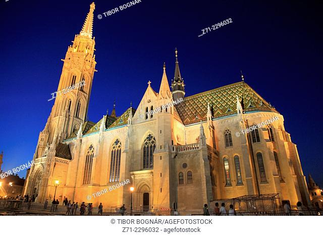 Hungary, Budapest, Matthias Church