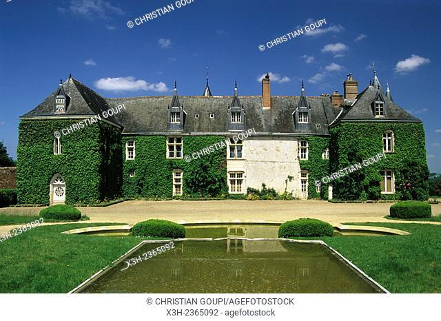 South side of Valesne Castle, Indre-et-Loire department, Centre region, France, Europe