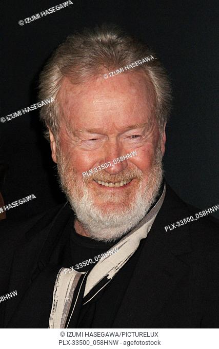 """Ridley Scott 12/18/2017 The World Premiere of """"""""All The Money in The World"""""""" held at The Academy's Samuel Goldwyn Theater in Beverly Hills"""