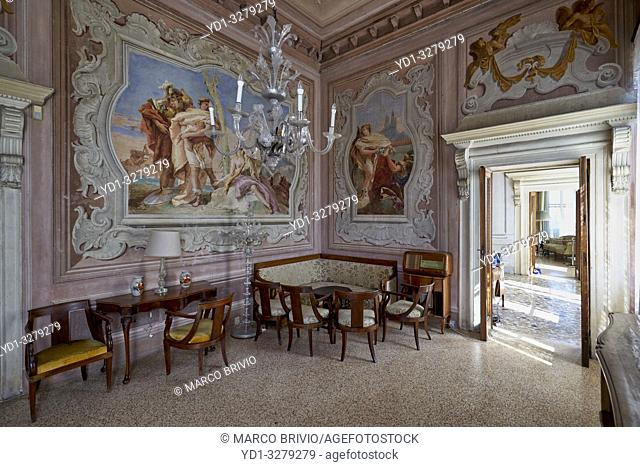 Villa Valmarana ai Nani takes its name from the statues of the 17 stone dwarfs, originally placed in the garden, now on the walls surrounding the house and...