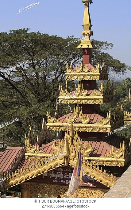 Myanmar, Burma, Bago, Hintha Gon Pagoda,