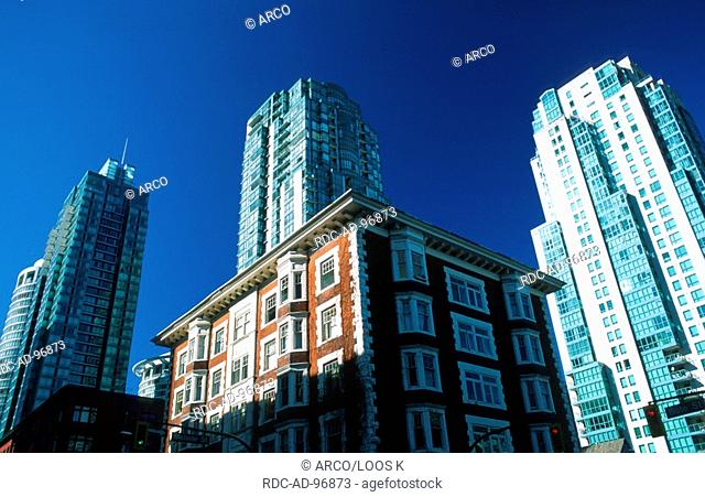 Tower blocks, downtown Vancouver, British Columbia, Canada