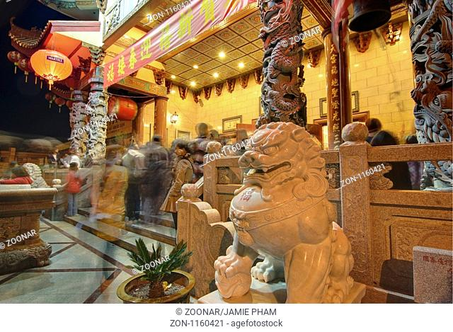 Thien Hau Temple, a Taoist Temple in Chinatown of Los Angeles