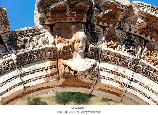 Temple of Hadrian in the ancient Greek city Ephesus