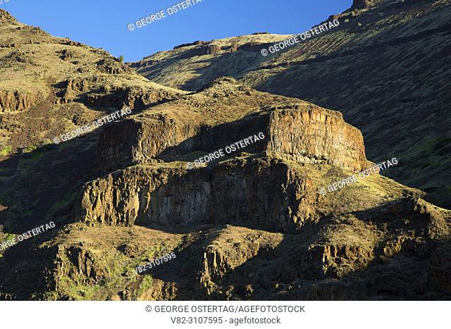 Canyon slope, Deschutes Wild and Scenic River, Lower Deschutes National Back Country Byway, Oregon