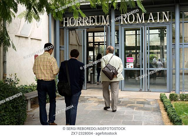 Horreum Romain museum. Narbonne. France. The Horreum is the only building dating from classical times that can still be seen in Narbonne