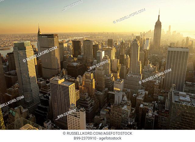 Empire State Midtown Skyline Manhattan New York City Usa