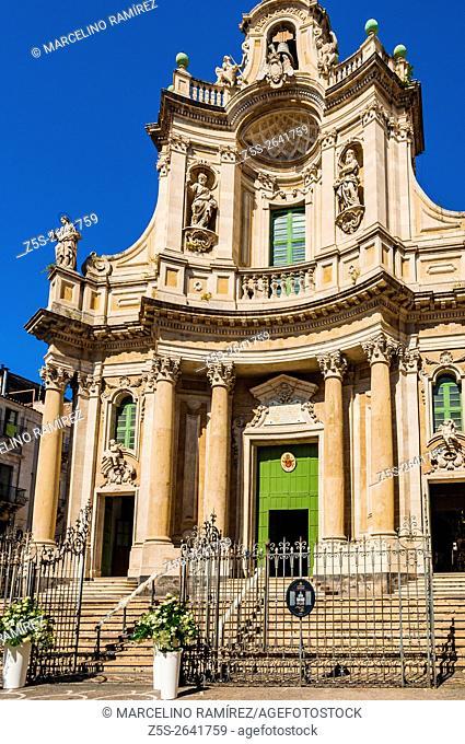 Basilica della Collegiata. Catania, Sicily, Italy