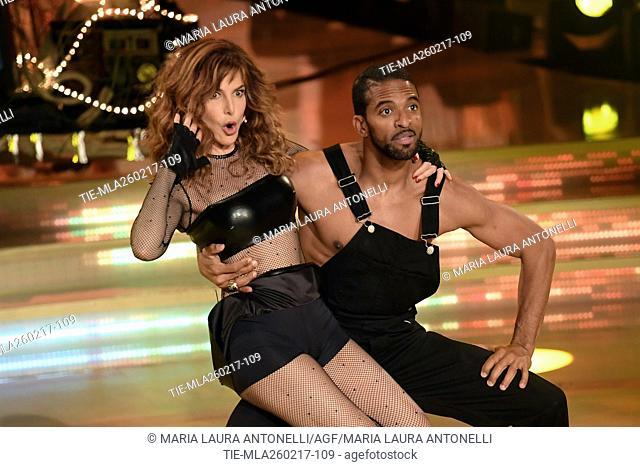 Giuliana De Sio with Maikel Fonts during the tv show Ballando con le stelle, Rome, ITALY-25-02-2017