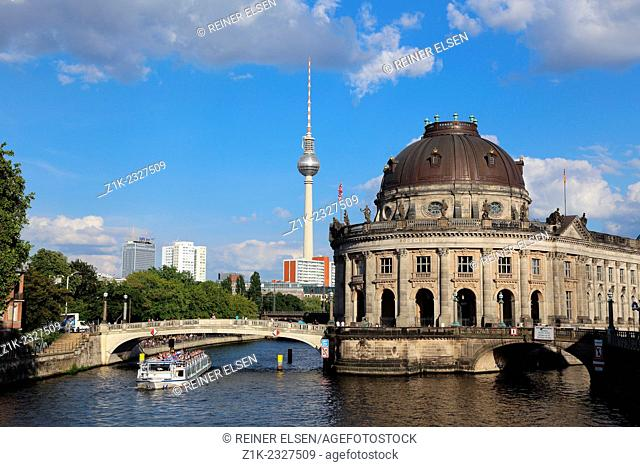 Berlin Bode Museum Spree Television Tower
