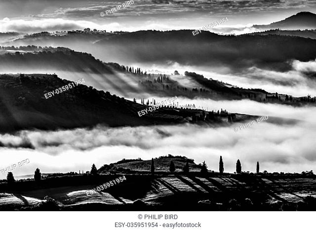 Sunrise over Val d'Orcia