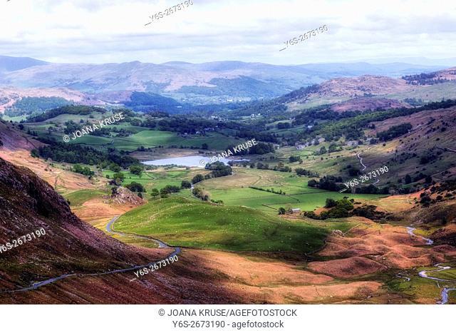 Wrynose Pass, Lake District, Cumbria, England, UK