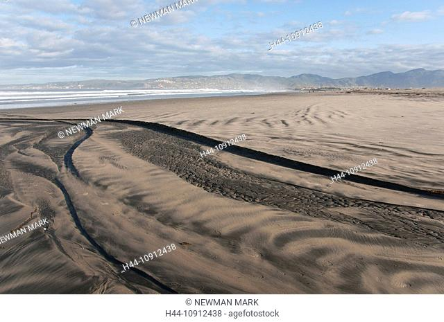 playa Hermosa beach, ensenada, baja California, Mexico, dunes, sand, ripples