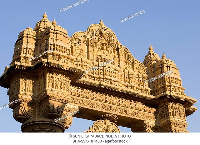 Entrance of Jain temple Lodurva Jaisalmer Rajasthan India Asia