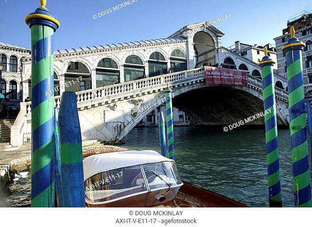 Venice, Italy  Morning light on the Rialto Bridge
