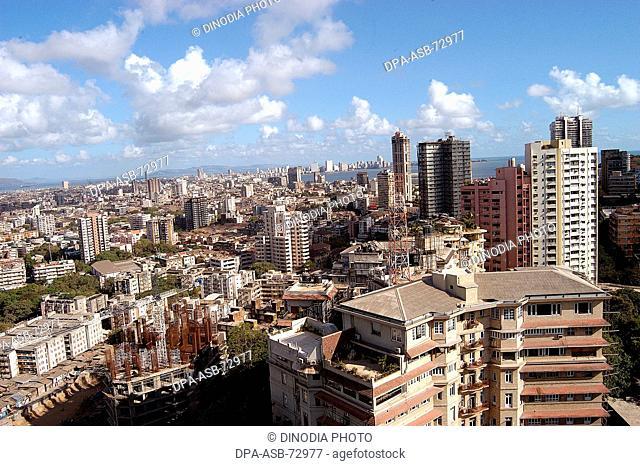Aerial view of Mumbai city , Bombay Mumbai , Maharashtra , India