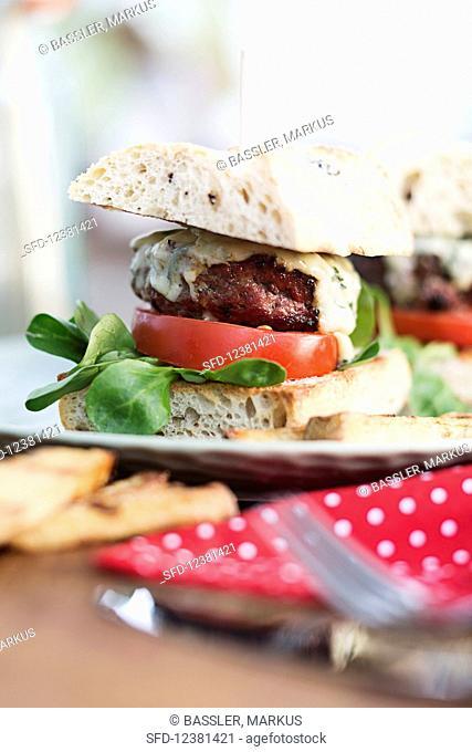 Calabrese burger with gorgonzola