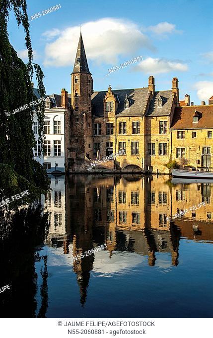 Rozenhoedkaai. Bruges, West Flanders, Belgium