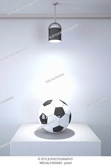 Football under room light