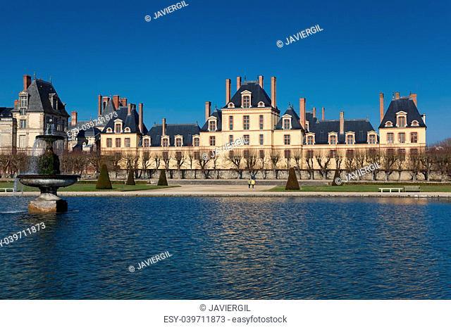 Fontainebleau castle, Seine et marne, Ile de France, France
