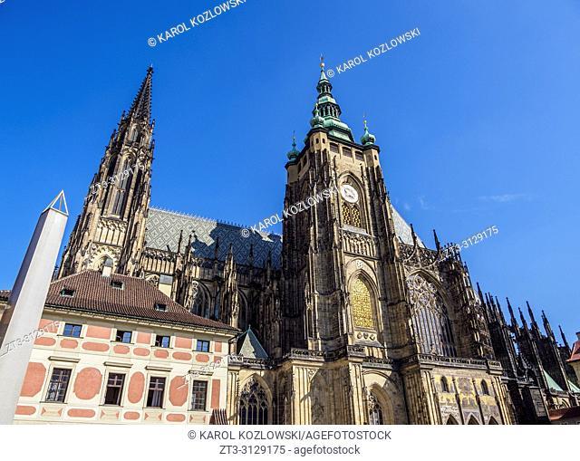 Saint Vitus Cathedral, Prague Castle, Prague, Bohemia Region, Czech Republic