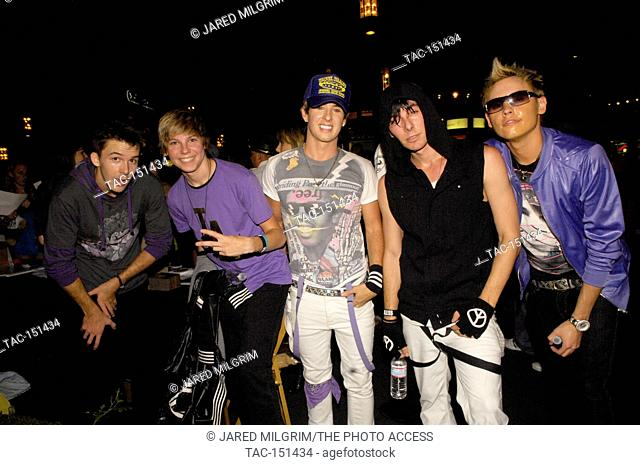 Varsity Fan Club backstage portrait at the Grove on August 26, 2009 in Los Angeles