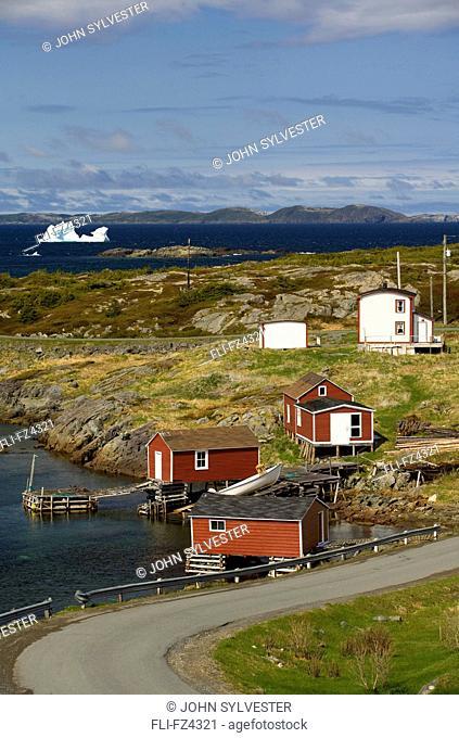 Coastal village, Change Islands, Newfoundland & Labrador