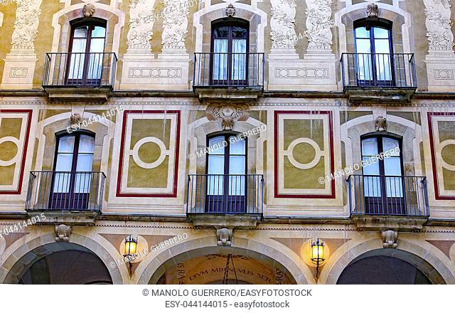 Facade of a building in the Montserrat Abbey, Barcelona, Catalunya, Spain