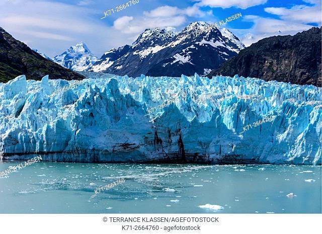 The Margerie Glacier and Mount Fairweather in Glacier Bay National Park, Alaska, USA