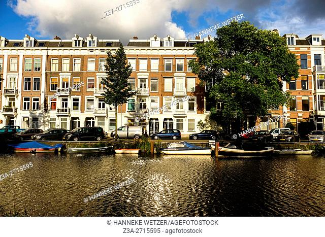 Traditional architecture of Amsterdam, the Netherlands, Europe