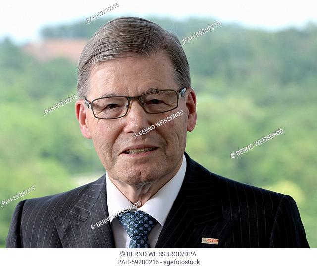 Hermann Scholl, former CEO of German industrial corporation Bosch, photographed in his office in Gerlingen, Germany, 10 June 2015