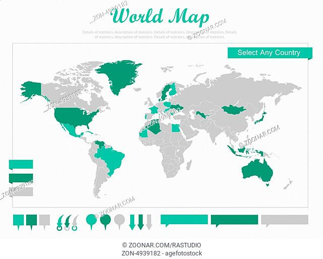 Infographic Elements. Opportunity to Highlight Any Country. Vector Illustration EPS 10