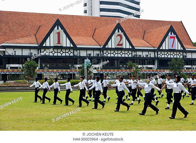 Kuala Lumpur, Malaysia Merdeka - Royal Selangor Club - Parade Übung