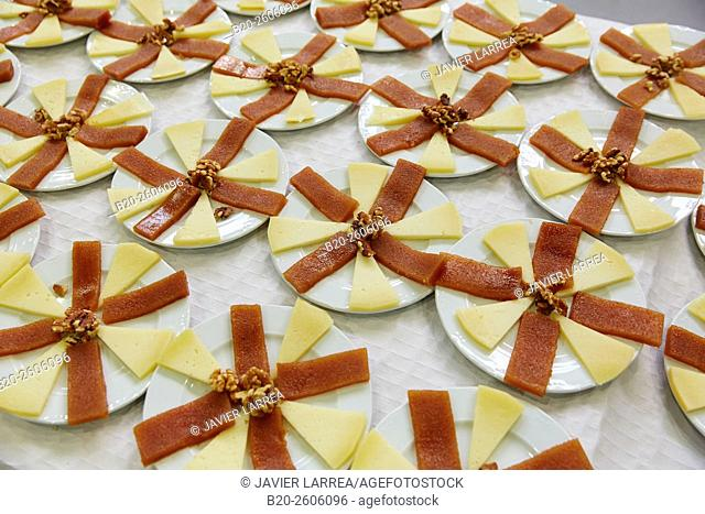Cheese with quince. Ficoba, Basque Coast International Fair. Irun. Gipuzkoa. Basque Country. Spain