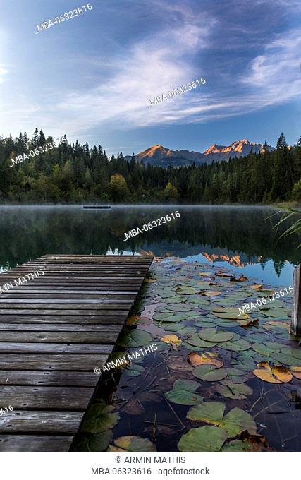 Daybreak in the Crestasee at Films, Switzerland