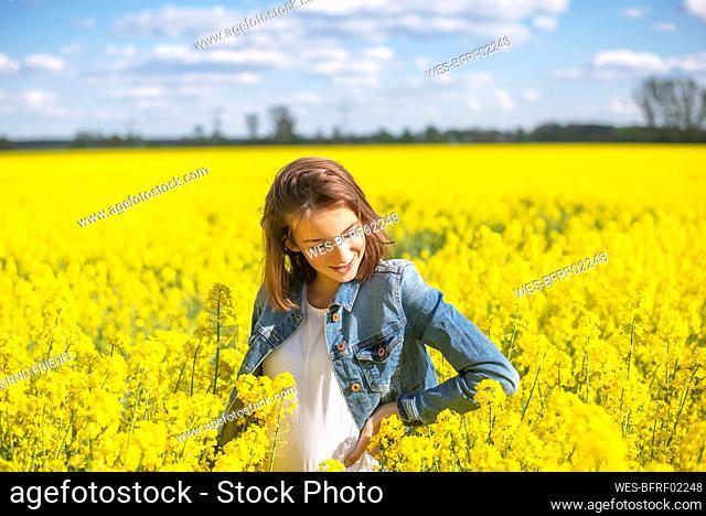 Teenage girl in rape field