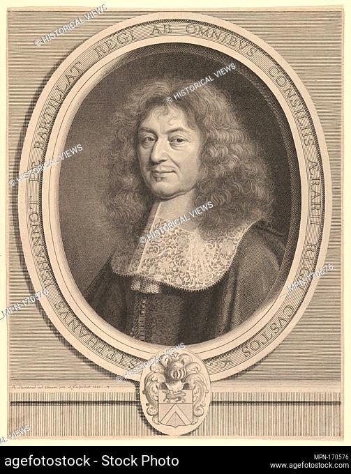 Étienne Jehannot de Bartillat. Artist: Robert Nanteuil (French, Reims 1623-1678 Paris); Artist: After Pierre Mignard (French, Troyes 1612-1695 Paris); Date: ca