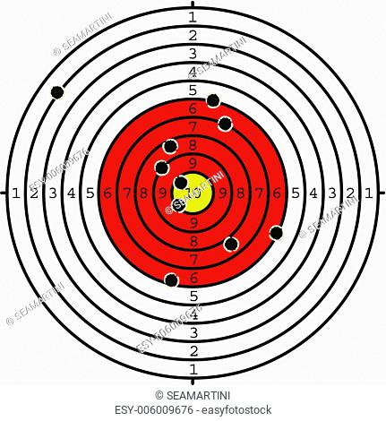Shooting target with holes for sport or military design