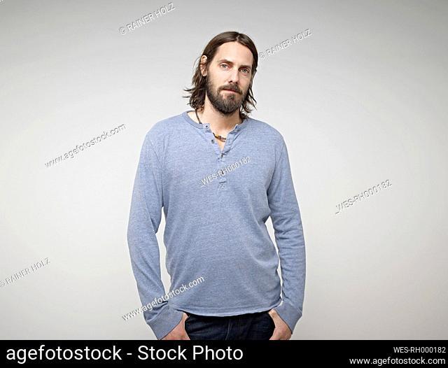 Portrait of mid adult man, close up