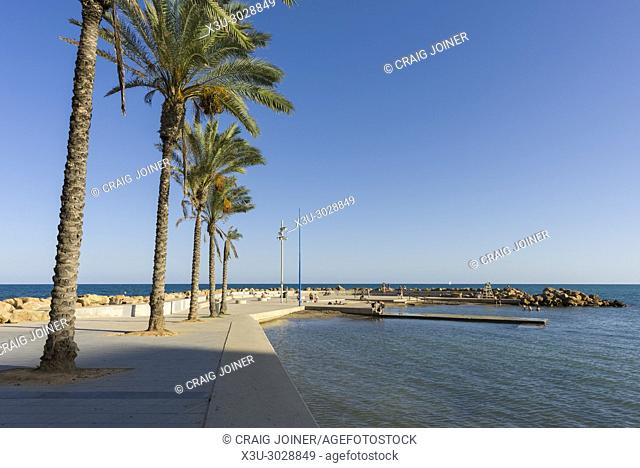 The seafront at Torrevieja, Province of Alicante, Spain