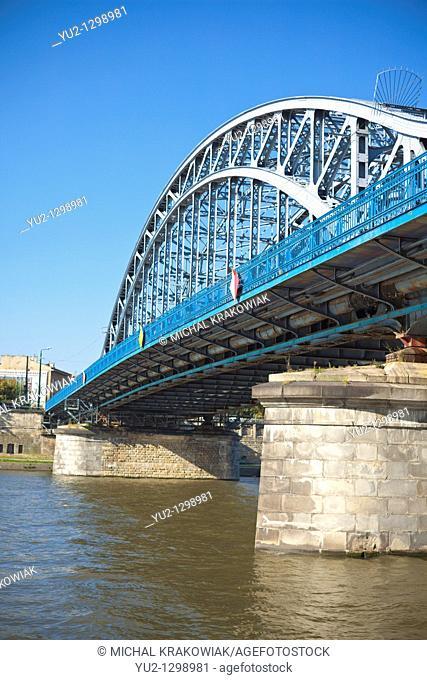 Pilsudski Bridge in Krakow, Poland
