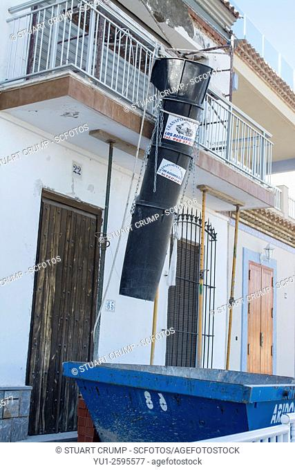 Construction work on a property renovation at Los Alcazares