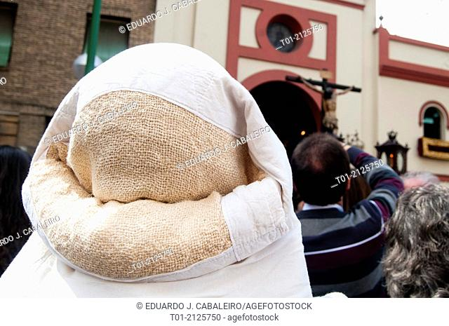 costalero during Holy Week of Seville