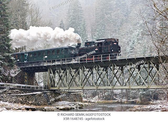 steam train near Hradsko, Czech Republic